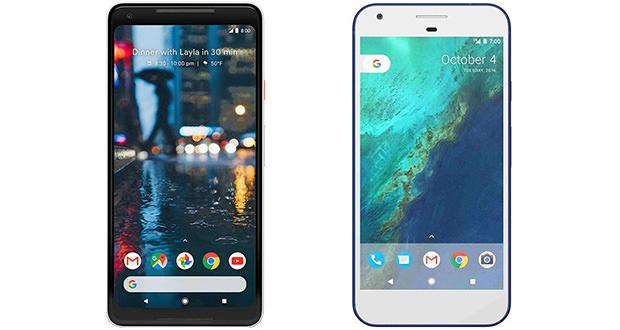 مقایسه مشخصات فنی گوگل پیکسل 2 ایکس ال با پیکسل XL ؛ تفاوت در چیست؟