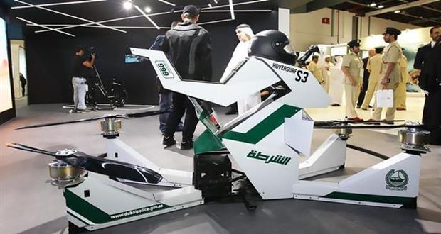 پلیس دبی به هاوربایک مجهز خواهد شد؛ یک موتور پرنده و خطرناک+ویدیو