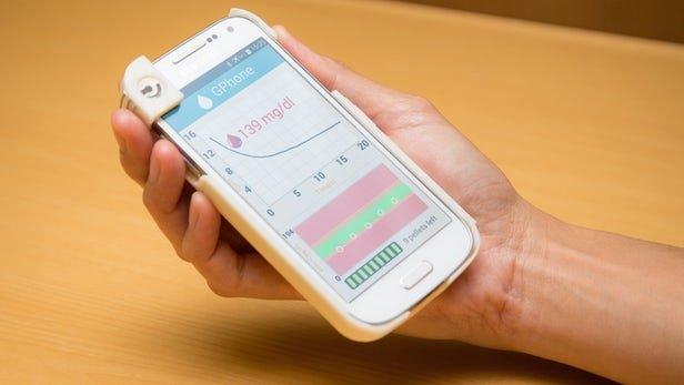 قاب موبایلی که قند خون را آزمایش میکند!