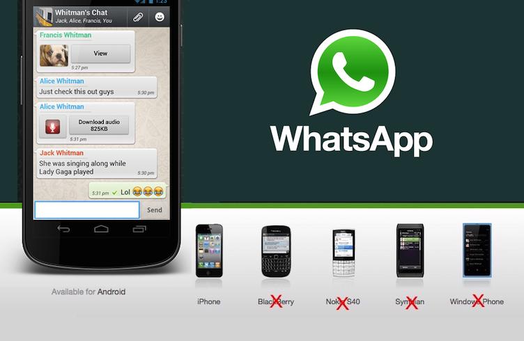 اتمام پشتیبانی واتس اپ از ویندوز فون و بلک بری