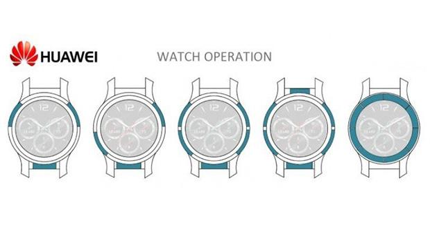 پتنت های ساعت هوشمند جدید هواوی مجهز به قابی با حساسیت لمسی منتشر شد