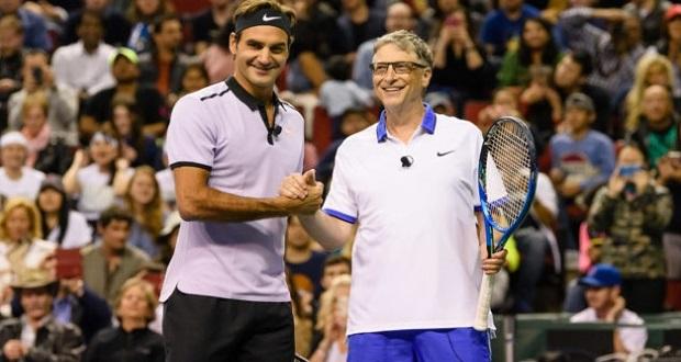 تماشا کنید: تمرینات سخت بیل گیتس برای آمادگی مسابقه تنیس با راجر فدرر!