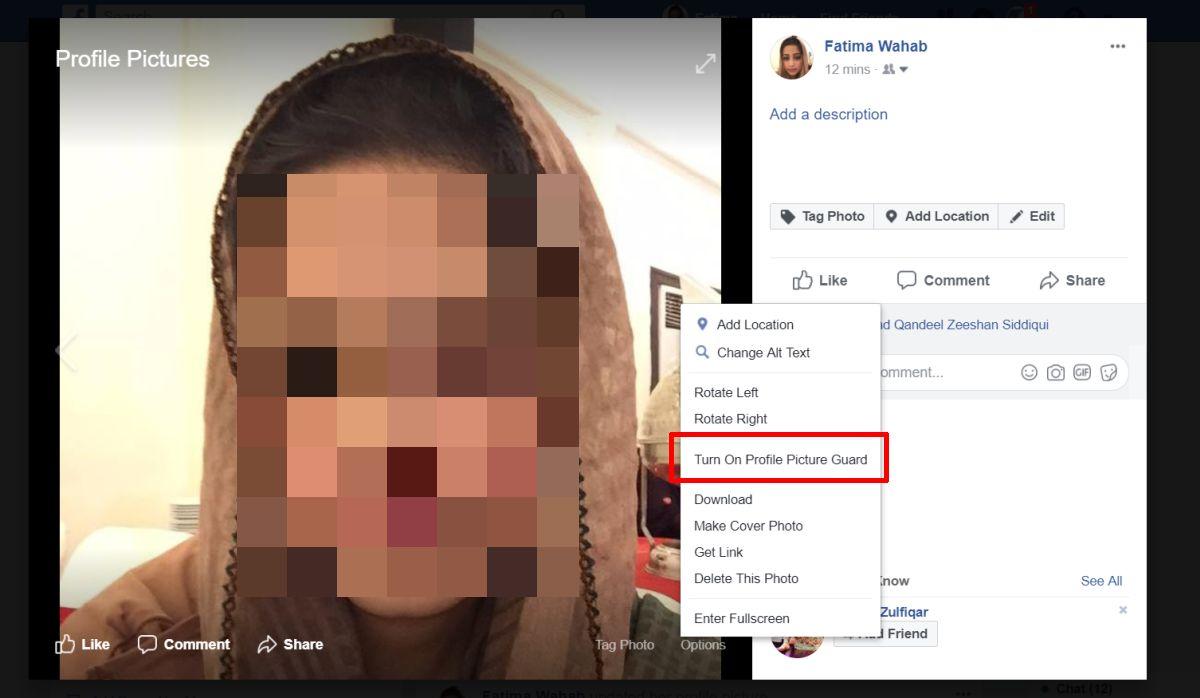 Profile Picture Guard چیست و چگونه آن را در فیس بوک فعال کنیم؟