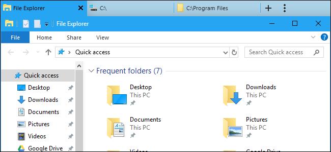 آموزش ایجاد تب بندی، در File Explorer در ویندوز ۱۰