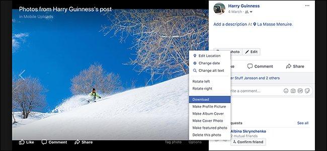 چطور عکس های فیس بوک را دانلود کنیم؟