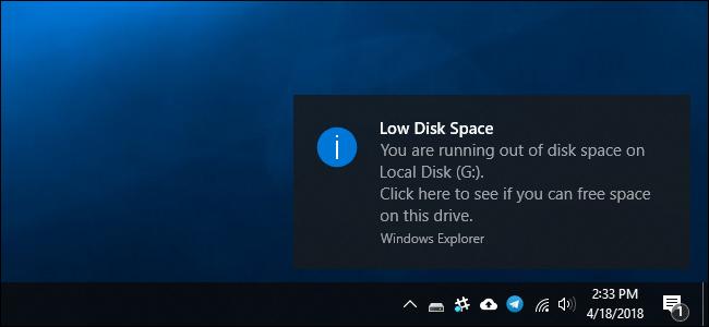 چگونه پیغام Low Disk Space را در ویندوز غیر فعال کنیم؟