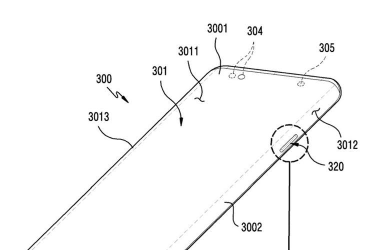 پتنت جدید سامسونگ؛ نمایشگر دارای انحنای لبه به همراه دکمه فیزیکی