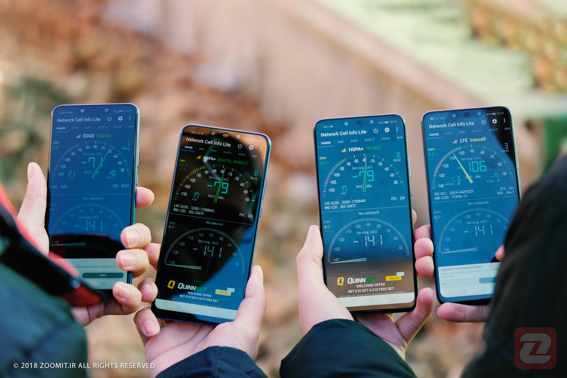 از تهران تا چالوس با نبرد اپراتورهای موبایل